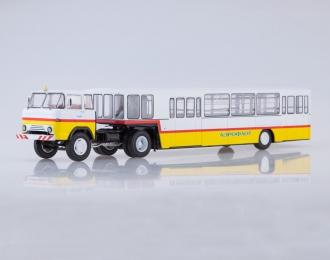 КАЗ-608 с полуприцепом АППА-4 Аэрофлот, белый / желтый