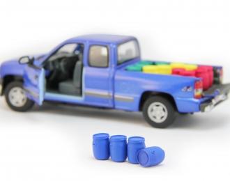 Набор пластиковых евробочек (48 литров) 4 шт, синий