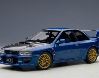 Subaru Impreza 22B upgraded version 1998 (blue / carbon fiber bonnet)