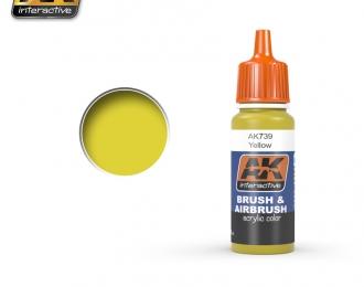 Краска акриловая YELLOW (желтый)