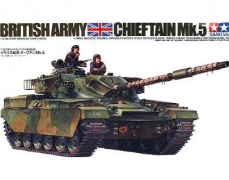 Сборная модель Английский танк Chieftain Mk.5 1960г. с 120-мм пушкой и 3 фигурами