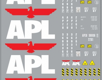 Набор декалей контейнеры APL (100х140)