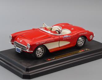 CHEVROLET Corvette Daytona Beach (1956), red / beige
