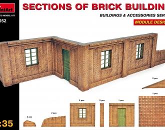 Сборная модель Наборы для диорам  SECTIONS OF BRICK BUILDINGS
