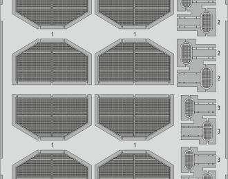 Фототравление для Lancaster B Mk. I радиаторы