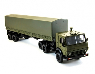 КАМАЗ 5410 с полуприцепом и тентом, хаки