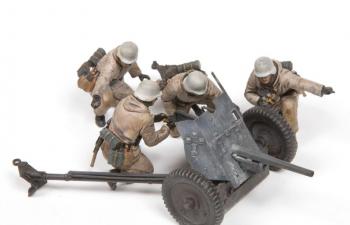 Сборная модель ПАК-36 с расчетом, пехота