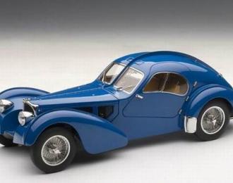 BUGATTI Atlantic 57S (BLUE WITH METAL со спицованными колесами) 1936, blue