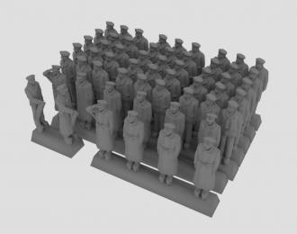 Сборная модель Фигурки моряков кригсмарине в зимней форме, набор №1