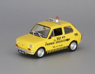 FIAT 126P Pomoc Drogowa, yellow