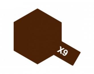 X-9 Brown (краска эмалевая, коричневый глянцевый), 10мл.
