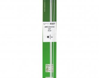 ABS пластик круг 1 мм - длина 250 мм - 5 шт