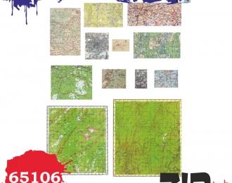 Цветные карты местности