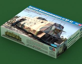 Сборная модель Ж/Д вагон German Kommandowagen of BP-42