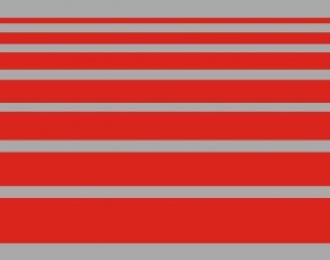Набор декалей Полосы красные, 195x40