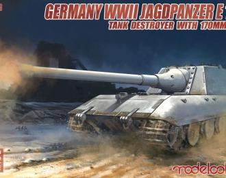 """Сборная модель Немецкая САУ """"WWII Jagdpanzer E-100"""" со 170mm орудием"""