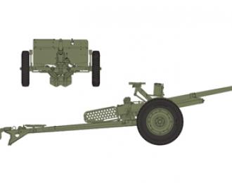 Сборная модель  WWII US army M3A1 37mm anti-tank gun