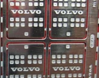 Фототравление Короб 10*14 VOLVO, блестящий никель