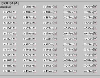 Набор декалей Номерные знаки России Свердловская область (100х70)