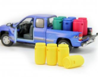 Набор пластиковых евробочек (127 литров) 4 шт, желтый
