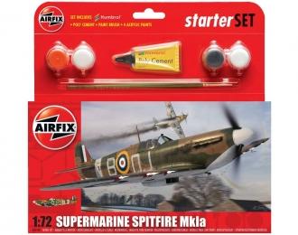 Сборная модель Британский истребитель Supermarine Spitfire MK.Ia (Подарочный набор)