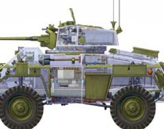 Сборная модель  Humber Armoured Car Mk.IV (transparent)