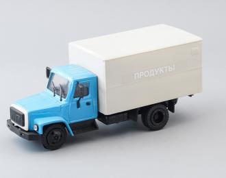 """(Уценка!) Горький 3307 фургон """"Продукты"""", голубой / серый"""
