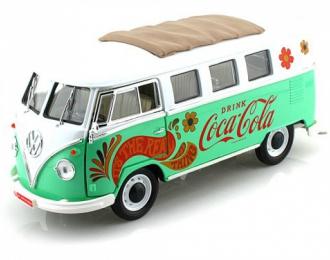 VOLKSWAGEN Transpoter T1 Coca-Cola (1962), с цветами
