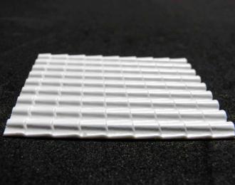 Пластиковый лист с текстурой черепицы А4 2,5х7 мм
