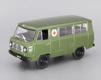 (Уценка!) УАЗ 450А Военная мед.помощь, Автомобиль на службе 27, хаки