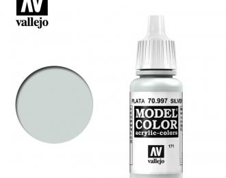 Краска акриловая `Model Color` Серебро / Metallic Silver