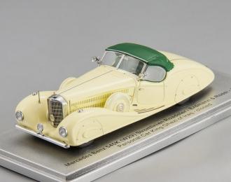 "MERCEDES-BENZ 540K (W29) Erdmann & Rossi ""King Ghazi of Iraq"" 1936 closed version (cream/green)"