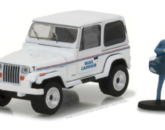 "JEEP Wrangler YJ ""Mail Carrier"" c фигуркой 1991 White"
