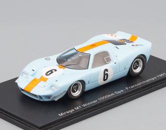 MIRAGE M1 Winner 1000km  Spa-Francorchamps (1967), blue / orange