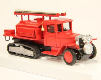 ЗИS-22 ПМЗ Полугусеничная пожарная автоцистерна с передним насосом