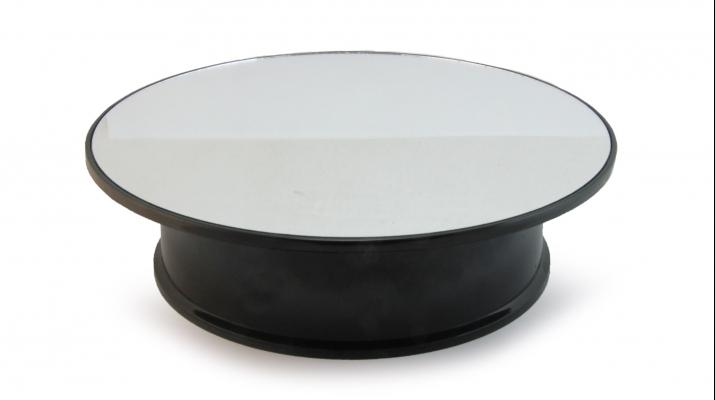 Подиум круглый вращающийся (корпус черный / поверхность зеркальная)