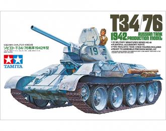 Сборная модель Советский танк T34/76 1942. С двумя фигурами танкистов