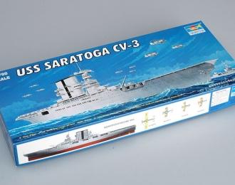 Сборная модель Американский авианосец USS SARATOGA CV-3