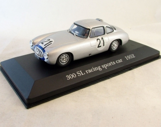 MERCEDES-BENZ 300 SL Racing Sports Car (1952), Mercedes-Benz Offizielle Modell-Sammlung 44, серебристый