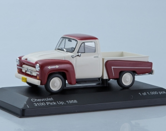 CHEVROLET 3100 Pick Up (1958), white / dark red