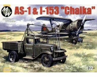 Сборная модель Набор Авиационный стартер АС-1 на базе Горький-АА + Самолет И-153