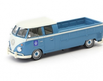 VOLKSWAGEN T1 double cabin - pick up truck, blue-white,Germany,1963