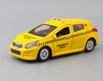 KIA Ceed Такси, yellow