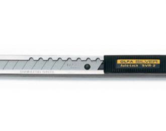 Нож SVR-2 с выдвижным лезвием и корпусом из нержавеющей стали, автофиксатор, 9мм