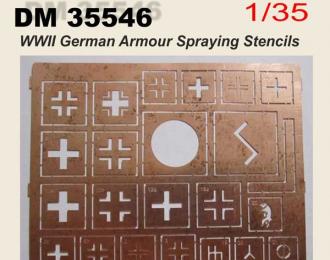 Трафарет . Тема - WW2. знаки обозначения немецкой бронетехники