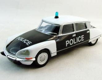 CITROEN DS21 Police, Полицейские Машины Мира 27, черно-белый