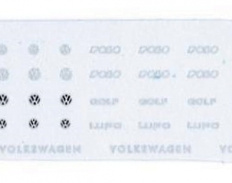 Набор декалей Логотипы и шильдики Volkswagen, 141x21