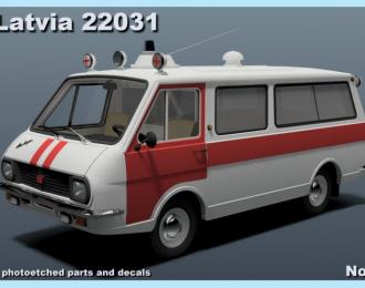 Сборная модель РАФ 22031 Скорая Помощь