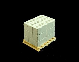 Штабель керамзитных блоков №2 (круглые отверстия)