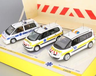 Набор моделей: RENAULT Espace I (1988), RENAULT Espace III (1996), RENAULT Espace IV (2002) UMAS, white